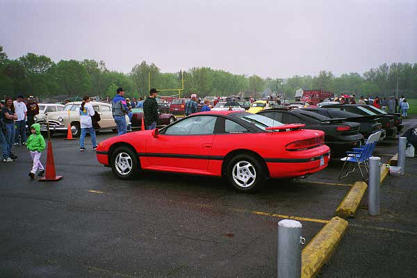 Willmar car show the cars in our class from left to right 93 base stealth 95 rt tt 85 trans am 90 mustang 89 mustang sciox Gallery